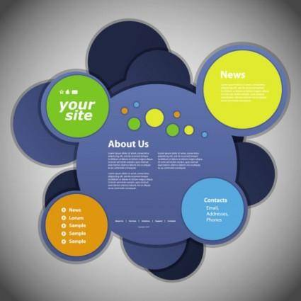 Circular web template 04 vector