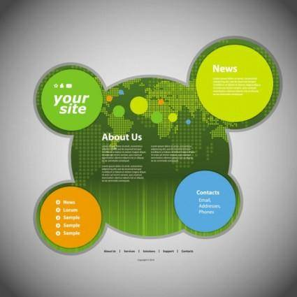 Circular web template 05 vector
