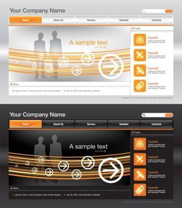 free vector Sophisticated and practical web site template 03 vector