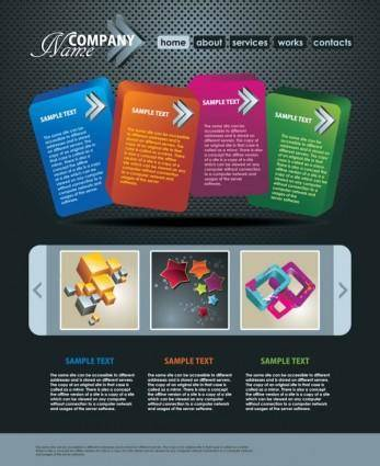 The trend of dynamic website templates 06 vector