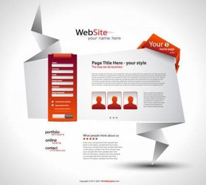 Origami website design 05 vector