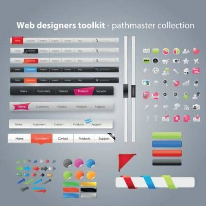 Practical web design kit 08 vector