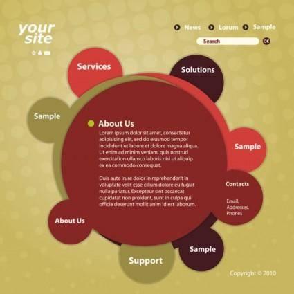 Circular web template 02 vector