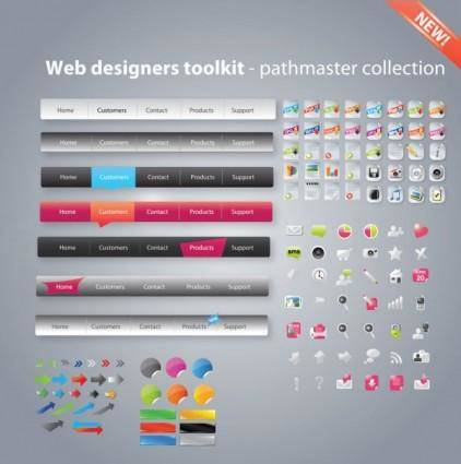 free vector Useful web design tools pack 02 vector