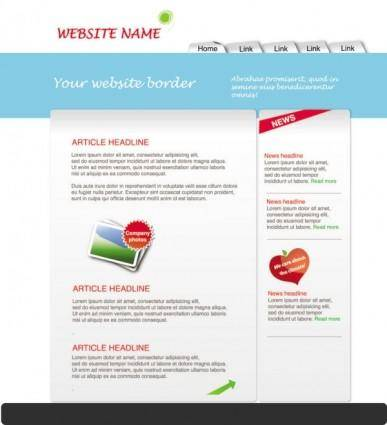 Simple and elegant web 05 vector