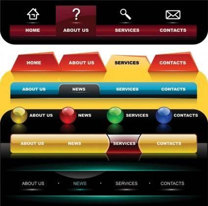 free vector Several special navigation menu vector