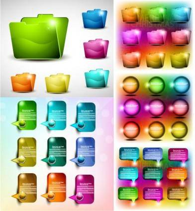 free vector Colorful web design elements vector