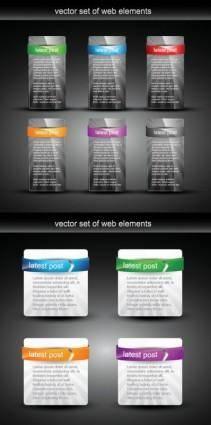 Vector texture web design module