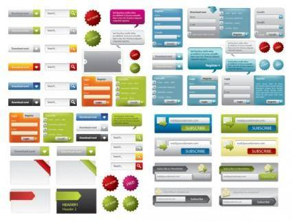 A variety of web design elements vector