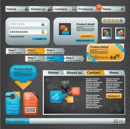 Practical web design elements 05 vector