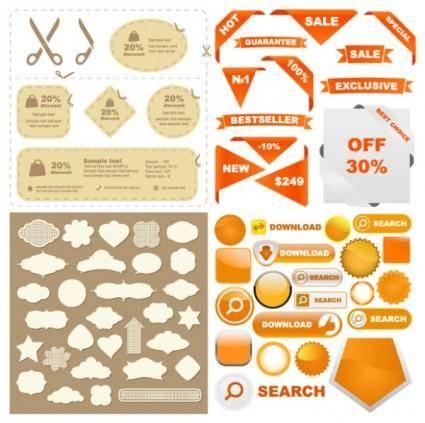 Some useful web design decorative elements vector
