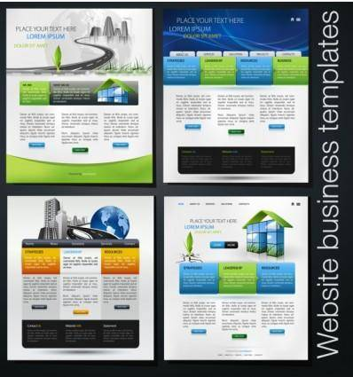Foreign beautiful web design vector