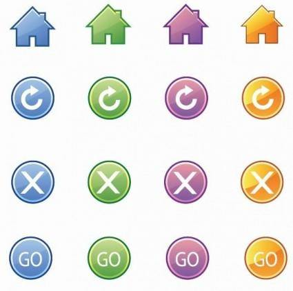 free vector Basic Web Icons Vector