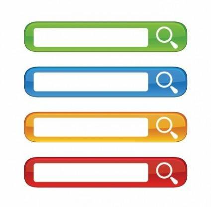 Free Colorful Website Search Boxes Vector