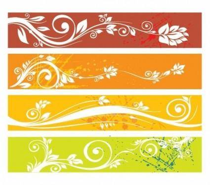 Free Floral Website Banners Vector Graphic