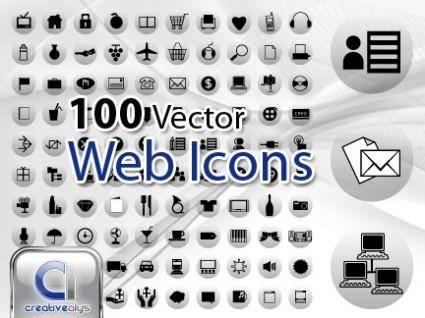 free vector 100 Vector Web Icons