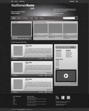 free vector Vector Web Template