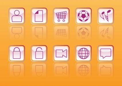 free vector Glossy Web Buttons