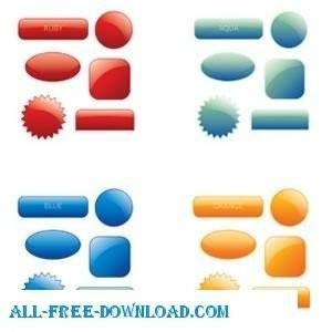 Collection Of 90 Multicoloured Web 20 Style Button