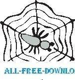 free vector Spider and Web 2