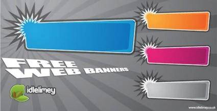 free vector Free web banners vector