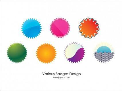 free vector 7 Web 2.0 Badges Vector Download