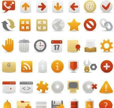 free vector 36 web icons