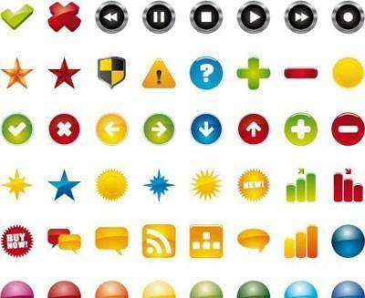 free vector 48 web icons