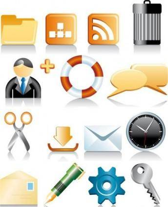 free vector Icons for computer, web etc.