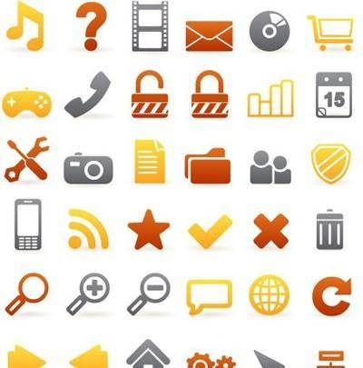 Set of 36 beautiful web icons