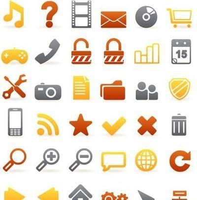 Set of 36 beautiful web icons