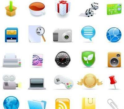 Colorful web icons 2
