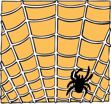 Spider On A Spider Web clip art