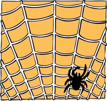 Spider On A Spider Web clip art