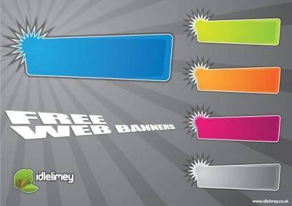 free vector Bright Web Banners