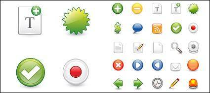 free vector Web2.0 web design icon commonly used