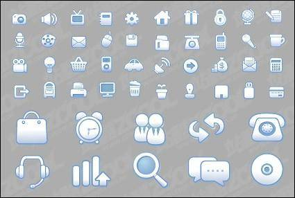 free vector Simple and practical web design icon vector material