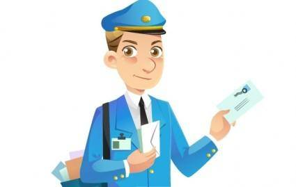 Mail Man Vector