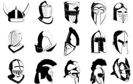 free vector Lots of Helmets