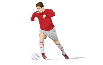 free vector Soccer Player Vector
