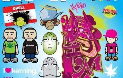 free vector Graffiti vector