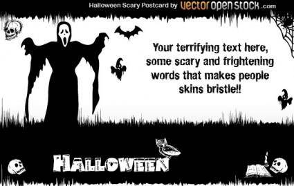 free vector Halloween - Scary Postcard