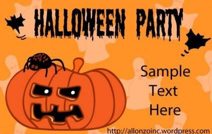 free vector Halloween Party Invitation Card 1