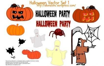 free vector Halloween Vector Set 1