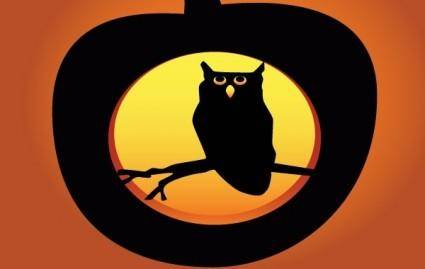 free vector Halloween Owl Pumpkin