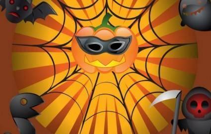 free vector Vector Flyer on Halloween