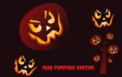 free vector Mad Pumpkin Vector