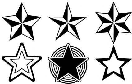 Random Free Vectors ? Part 13 Stars