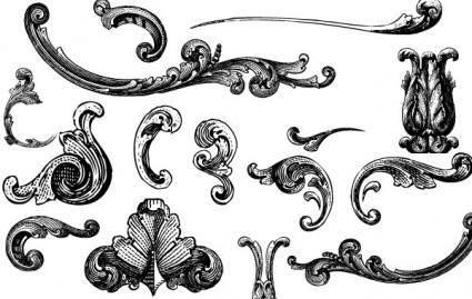 free vector Free Vectors: Engraved Ornaments