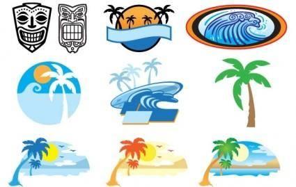 free vector Hawaii Beach